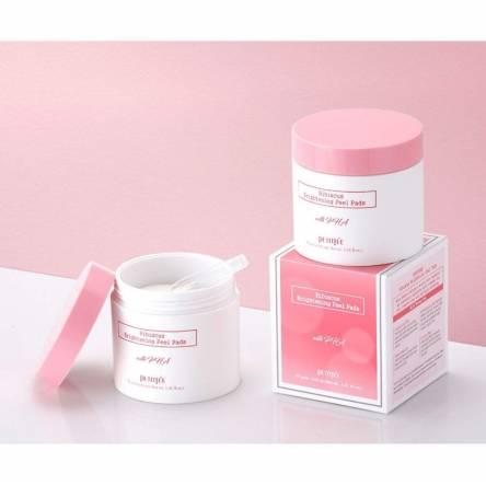 Осветляющие пилинг-пэды с розой PETITFEE Hibiscus Brightening Peel Pads - 70 шт