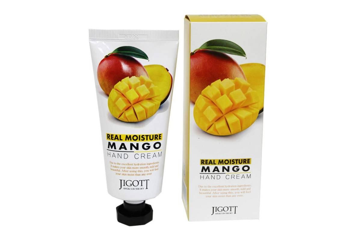 Крем для рук с манго Jigott Real Moisture Hand Cream Mango - 100 мл