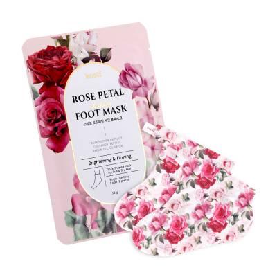 Маска-носочки для ног с экстрактом розы KOELF Rose Petal Satin Foot Mask - 1 пара