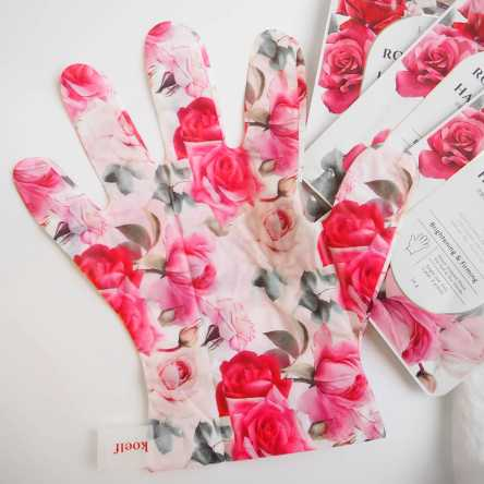 Маска-перчатки для рук с экстрактом розы Petitfee Koelf Rose Petal Satin Hand Mask - 1 пара