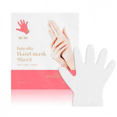 Увлажняющая маска для рук и ногтей Holika Holika Baby Silky Hand Mask Sheet - 2*18 мл