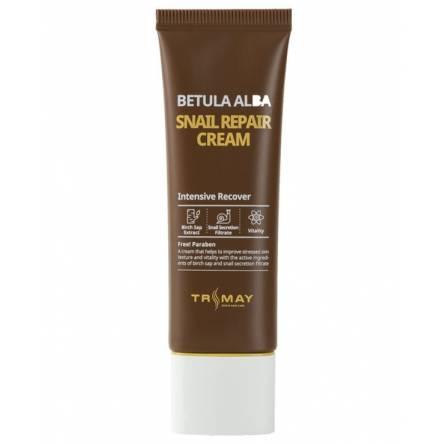 Крем для лица с муцином улитки Trimay Snail Repair Betula Alba Cream - 50 гр