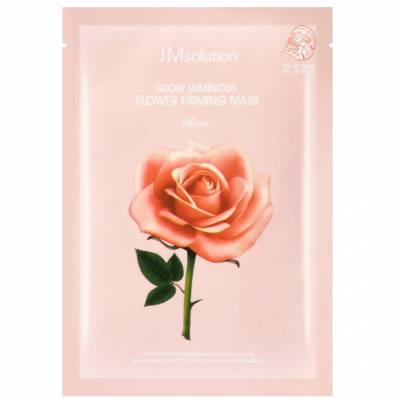 Укрепляющая тканевая маска с розой JMsolution Glow Flower Firming Mask Rose - 30 мл