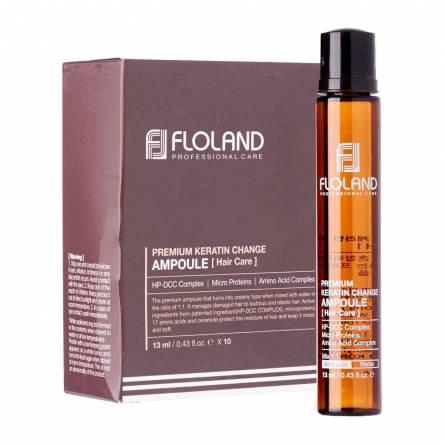 Филлер для восстановления волос с кератином Floland Premium Keratin Change Ampoule - 13 мл