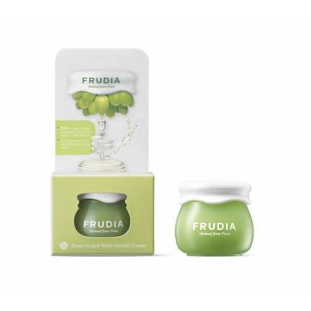 Миниатюра себорегулирующего крема Frudia Green Grape Pore Control Cream - 10 мл