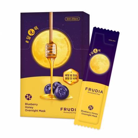 Увлажняющая ночная маска для лица Frudia Blueberry Honey Overnight Mask - 5 мл