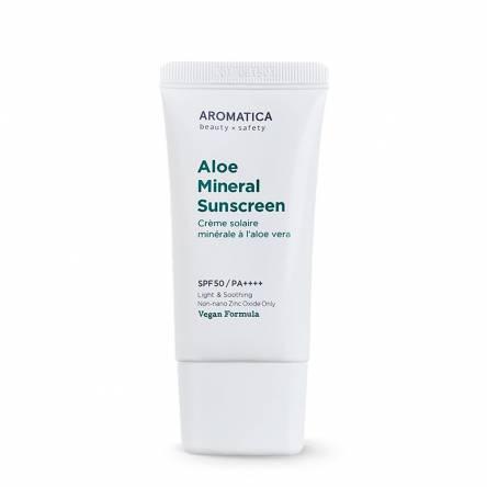 Солнцезащитный крем с алоэ Aromatica Aloe Mineral Sunscreen SPF50/PA++++ - 50 мл