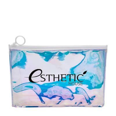Голографическая косметичка-хамелеон Esthetic House Holographic Cosmetic Bag