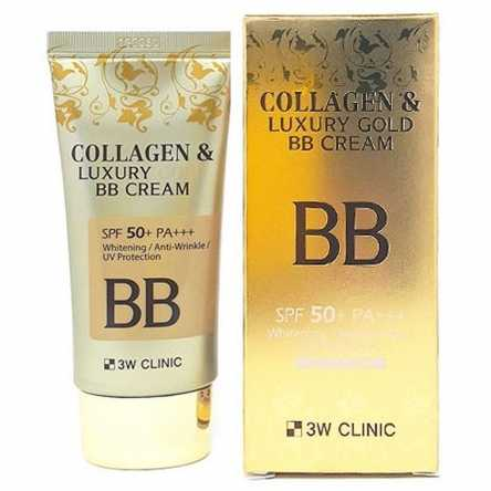 ББ крем с коллагеном 3W Clinic Collagen & Luxury Gold BB Cream - 50 мл