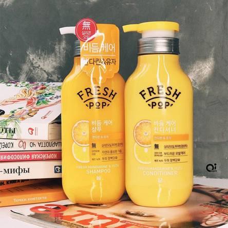 Кондиционер для поврежденных волос Fresh Pop Fresh Mandarine Yuza Conditioner - 500 мл