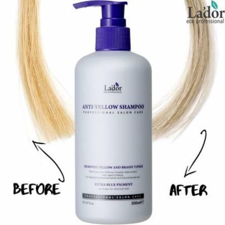 Оттеночный шампунь против желтизны волос Lador Anti Yellow Shampoo - 300 мл