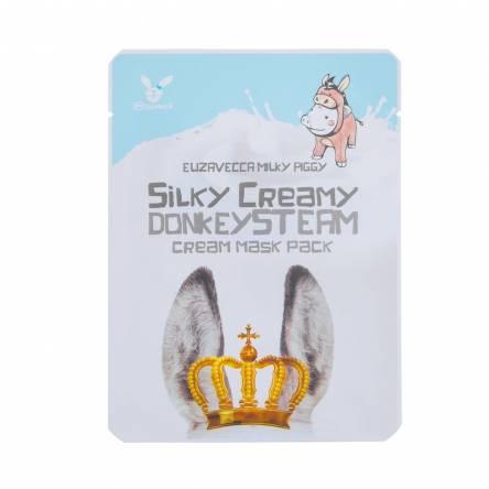 Тканевая маска с паровым кремом Elizavecca Silky Creamy Donkey Steam Cream Mask Pack - 25 мл