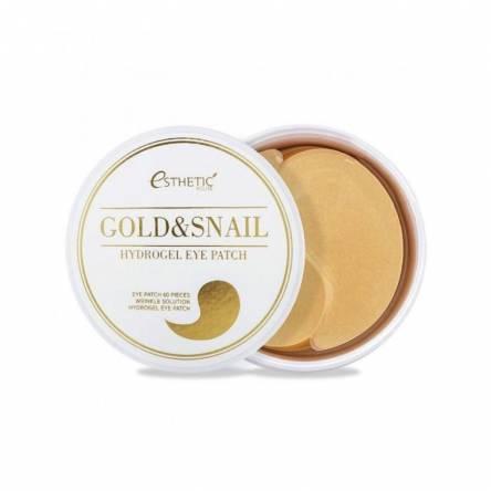 Гидрогелевые патчи для глаз с муцином улитки ESTHETIC HOUSE Gold & Snail Hydrogel Eye Patch - 60 шт