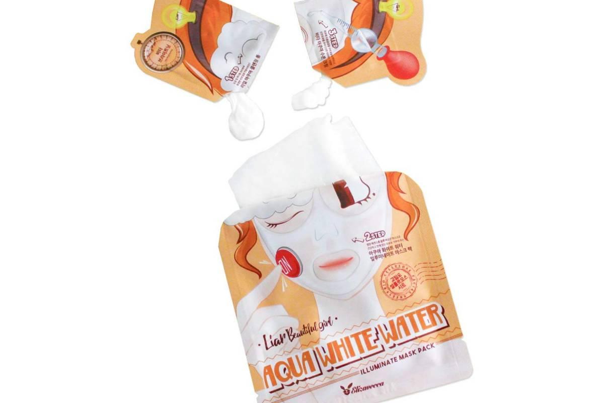 Трехэтапная осветляющая маска Elizavecca Aqua White Water Illuminate Mask Pack