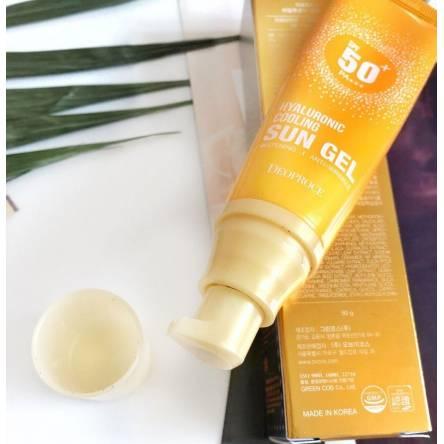 Солнцезащитный гель DEOPROCE Hyaluronic Cooling Sun Gel SPF 50+ PA+++ - 50 гр