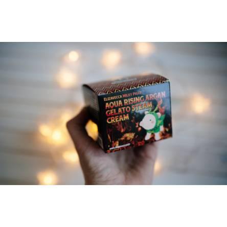 Увлажняющий крем с маслом арганы ELIZAVECCA Aqua Rising Argan Gelato Steam Cream - 100 мл