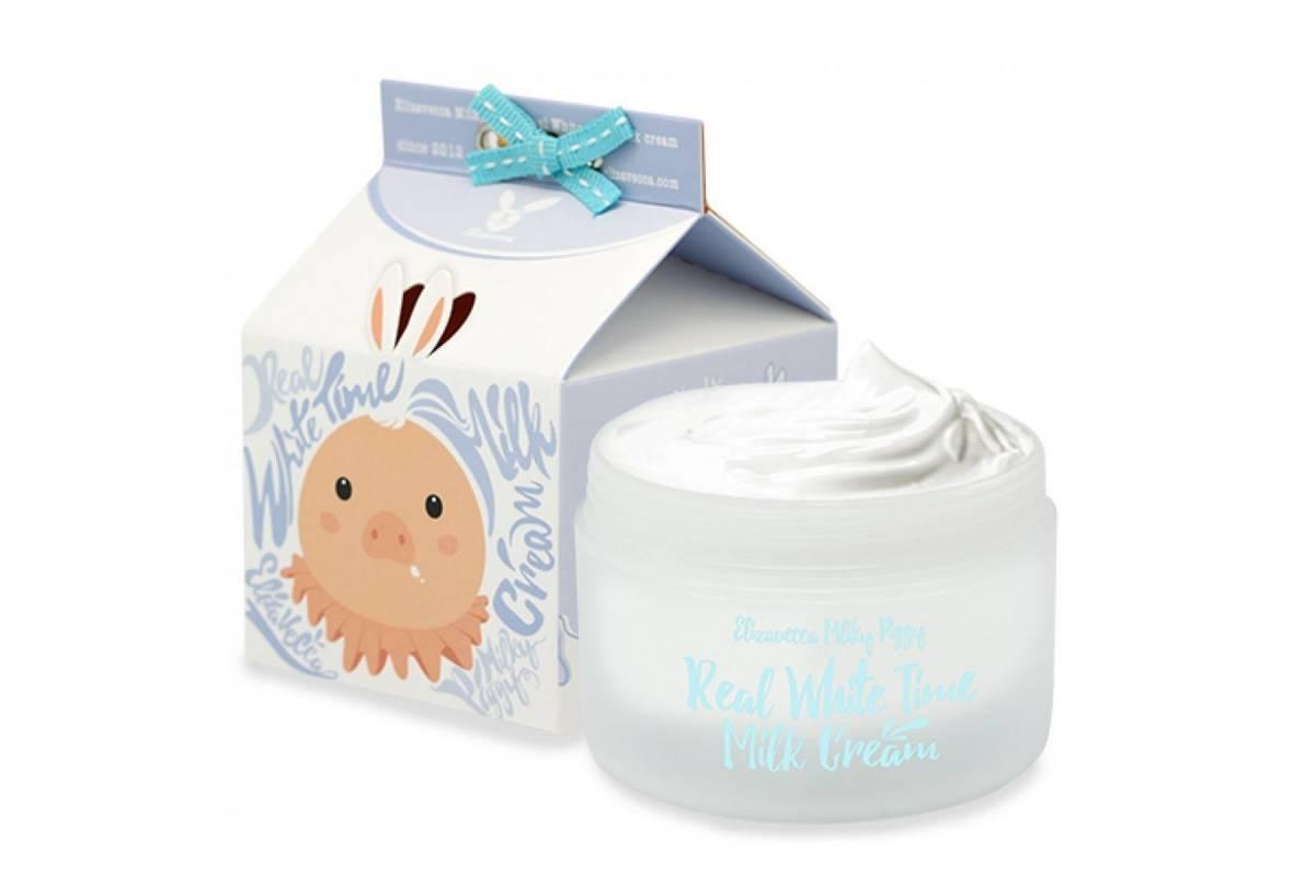 Осветляющий крем с козьим молоком ELIZAVECCA Real White Time Milk Cream - 100 мл