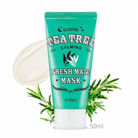 Успокаивающая ночная маска для лица A'PIEU Fresh Mate Tea Tree Mask - 50 мл