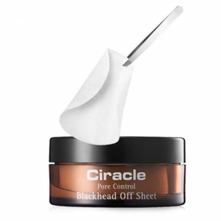 Салфетки для удаления черных точек CIRACLE Pore Control Blackhead Off Sheet - 40 шт