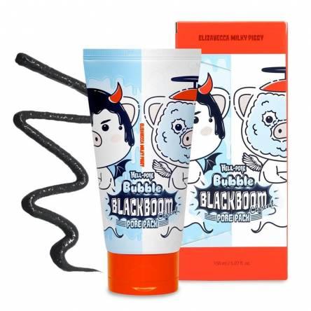 Маска для очищения пор Elizavecca Hell-Pore Bubble Blackboom Pore Pack - 150 мл
