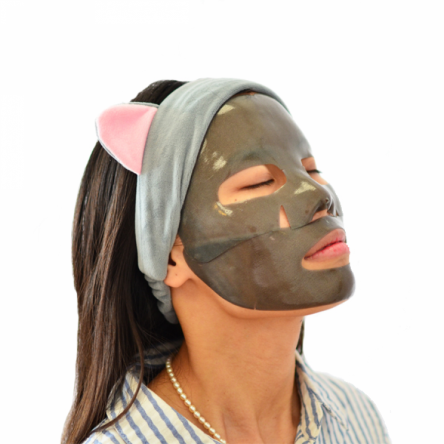Гидрогелевая маска с черным жемчугом Petitfee Black Pearl Gold Hydrogel Mask Pack - 32 мл