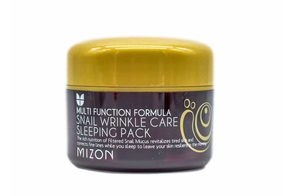 Ночная маска для лица с муцином улитки MIZON Snail Wrinkle Care Sleeping Pack - 80 мл