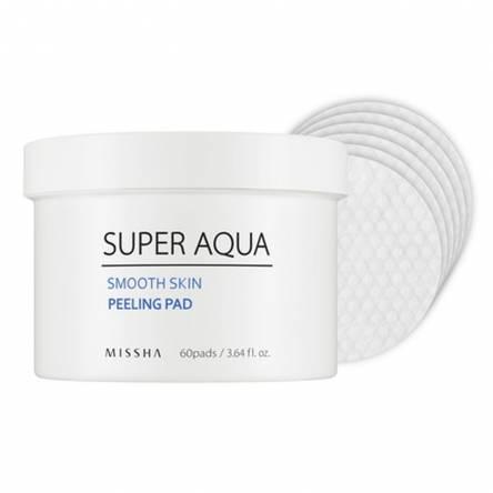 Очищающие пилинг-пэды Missha Super Aqua Smooth Skin Peeling Pad - 60 шт