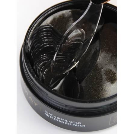 Питательные гидрогелевые патчи для глаз с муцином улитки TRIMAY Black Snail Gold Nutrition Eye Patch - 90 шт
