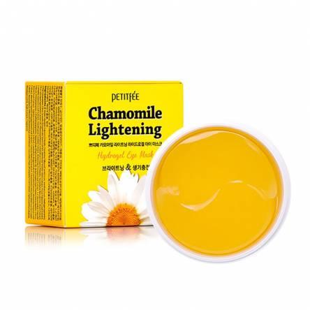 Гидрогелевые патчи против темных кругов PETITFEE Chamomile Lightening Hydrogel Eye Patch - 60 шт