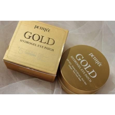 Гидрогелевые патчи для глаз с золотом PETITFEE Gold Hydrogel Eye Patch - 60 шт