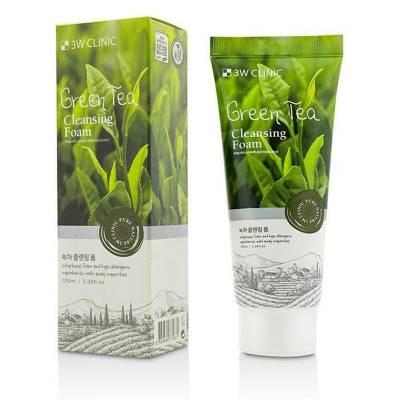 Пенка для умывания c зеленым чаем 3W Clinic Green Tea Foam Cleansing - 100 мл