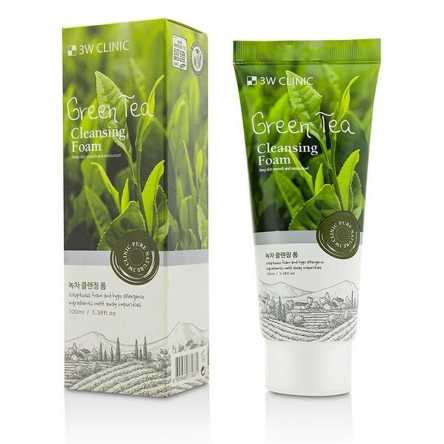 Очищающая пенка с зеленым чаем 3W Clinic Green Tea Foam Cleansing - 100 мл