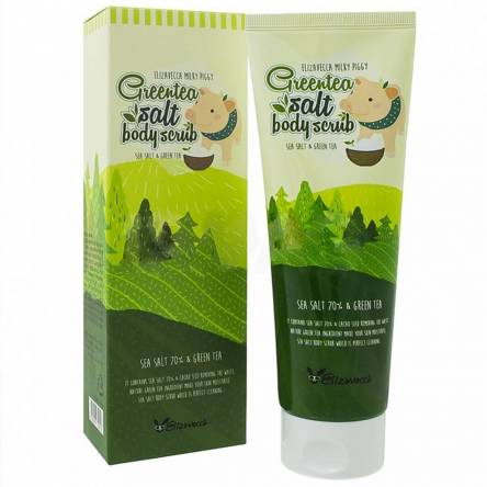 Скраб для тела c зелёным чаем Elizavecca Greentea Salt Body Scrub - 300 гр
