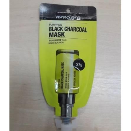 Очищающая маска против черных точек VERACLARA Purifying Black Charcoal Mask - 27 гр