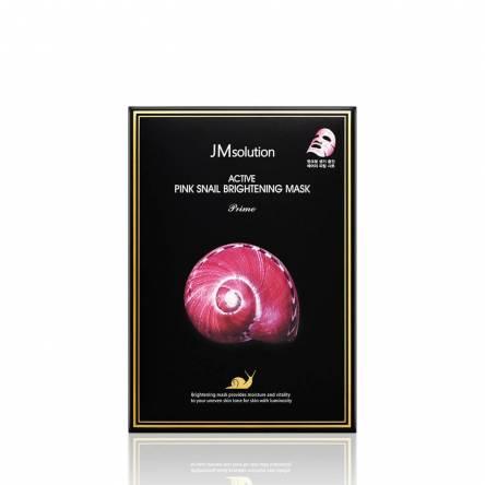Тканевая маска с муцином улитки JMsolution Active Pink Snail Brightening Mask Prime - 30 мл