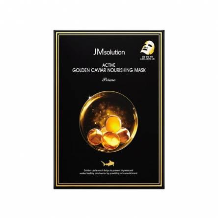 Тканевая маска с золотом и икрой JMsolution Active Golden Caviar Nourishing Mask Prime - 30 мл