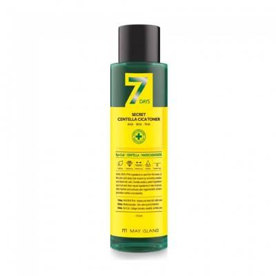 Обновляющий тонер для проблемной кожи May Island 7 Days Secret Centella Cica Toner AHA/BHA/PHA - 155 мл