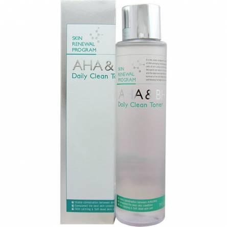 Пилинг-тонер с кислотами MIZON AHA & BHA Daily Clean Toner - 150 мл