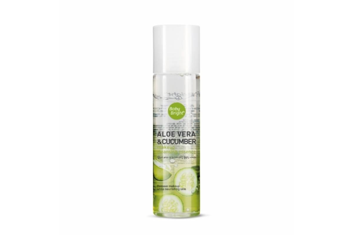 Эссенция для снятия макияжа Baby Bright Aloe Vera & Cucumber Make Up Cleansing Essence - 100 мл