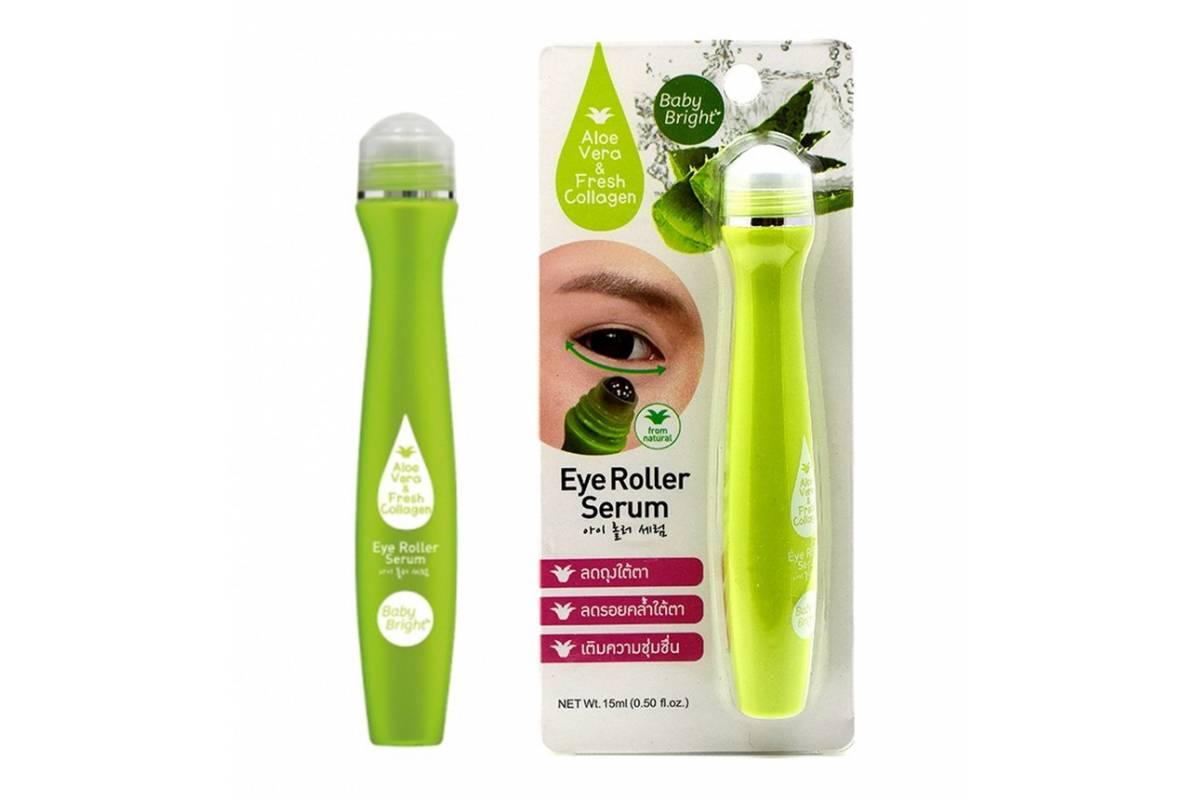 Сыворотка-роллер для кожи вокруг глаз с алоэ Baby Bright Aloe Vera and Fresh Collagen Eye Roller Serum - 15 мл