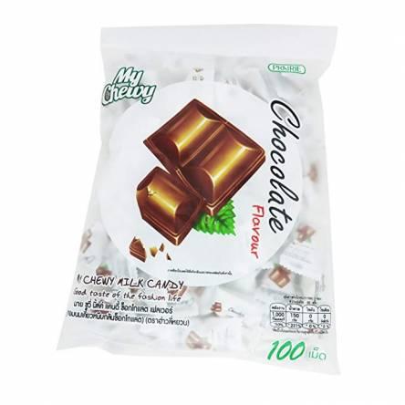 Молочные конфеты со вкусом шоколада My Chewy Milk Chocolate Mint Flavour - 360 гр