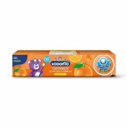 Детская зубная паста с апельсином Kodomo Orange Toothpaste For Kids - 40 гр