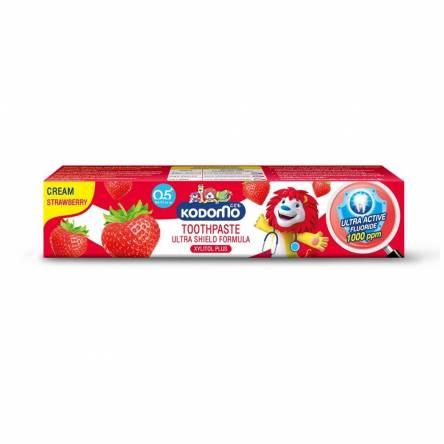 Детская зубная паста с клубникой Kodomo Strawberry Toothpaste For Kids - 40 гр