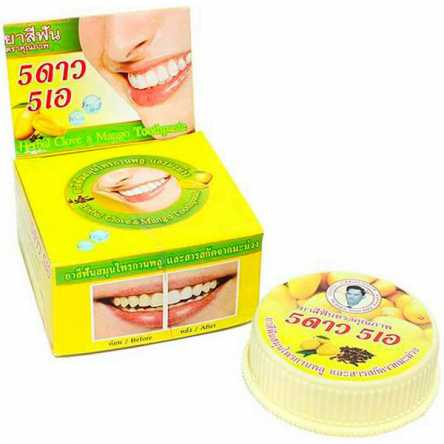 Отбеливающая зубная паста с манго 5 Star Cosmetic Herbal Clove Toothpaste Mango - 25 гр