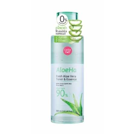 Тонер-эссенция c алоэ Cathy Doll Aloe Ha Fresh Aloe Vera Toner & Essence - 300 мл