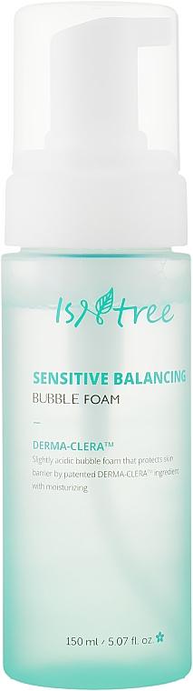 Воздушная пенка для умывания с керамидами Isntree Sensitive Balancing Bubble Foam - 150 мл