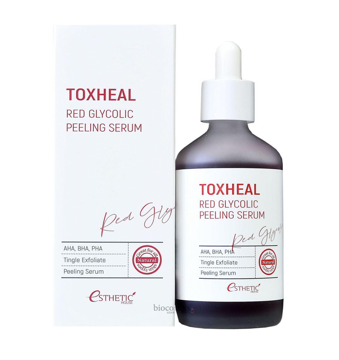 Гликолевая пилинг-сыворотка ESTHETIC HOUSE Toxheal Red Glycolic Peeling Serum - 100 мл