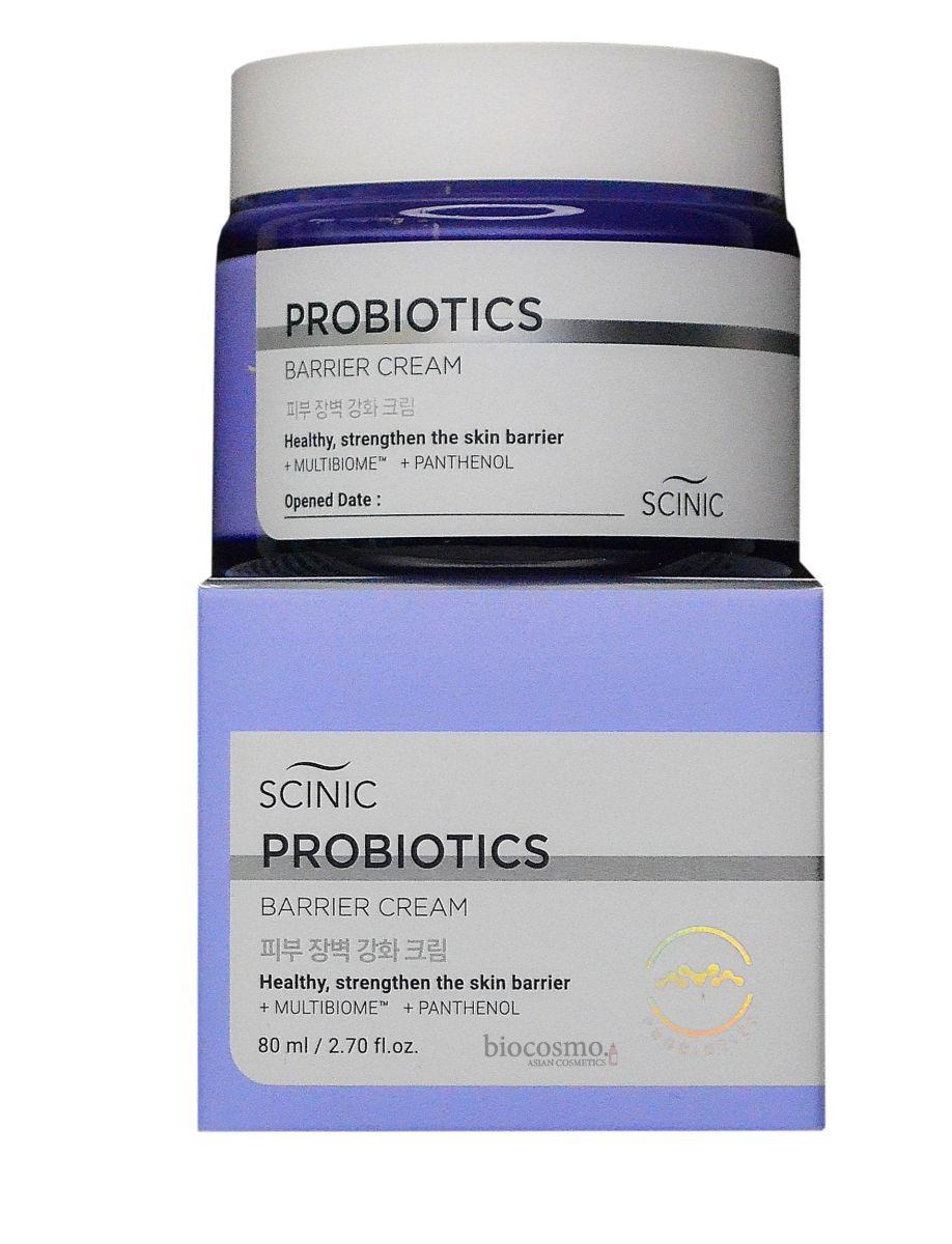 Восстанавливающий крем с пробиотиками Scinic Multibiome Probiotics Barrier - 80 мл