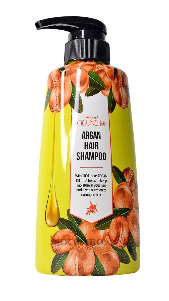 Шампунь для волос с аргановым маслом Welcos Kwailnara Around Me Argan Hair Shampoo - 500 мл