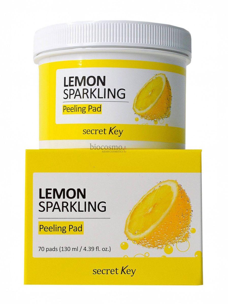 Пилинг пэды с лимоном Secret Key Lemon Sparkling Peeling Pad - 70 шт